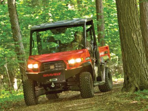 Новый американский мотовездеход Gravely Atlas JSV