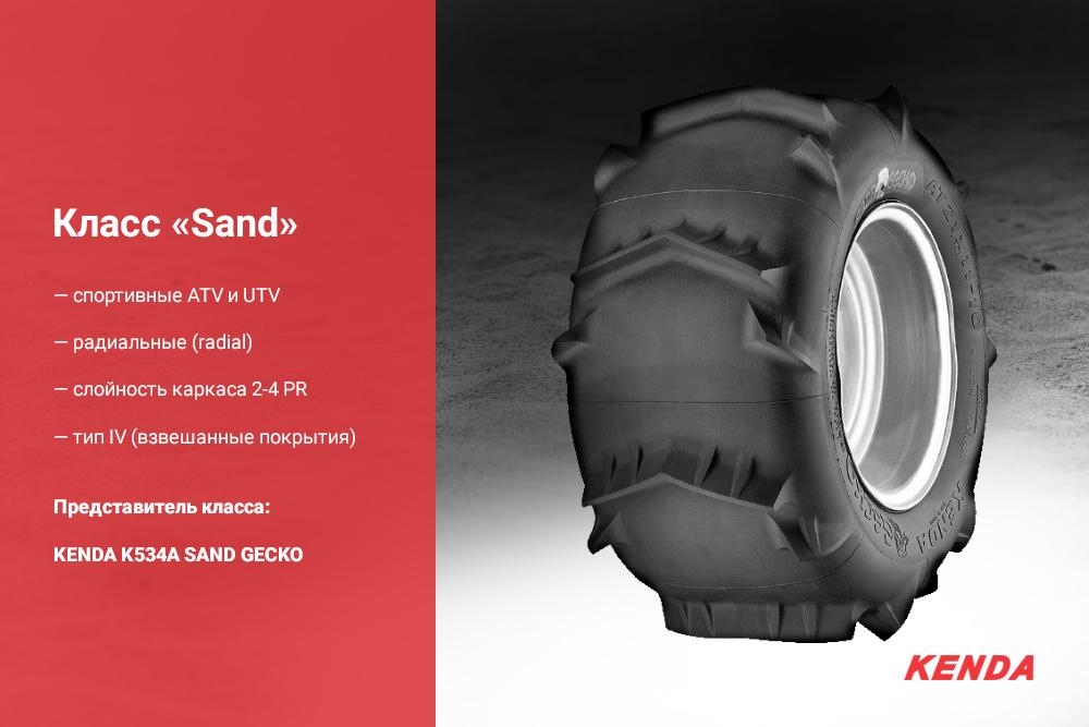 Шины на квадроцикл класс Sand
